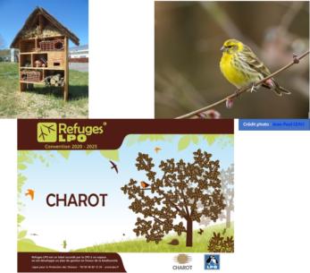 L'entreprise CHAROT a signé une convention pour faire de son site un refuge LPO.